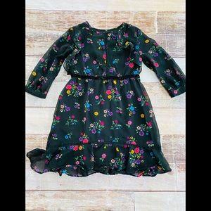 Disney D-Signed Coco black floral dress size XS 6